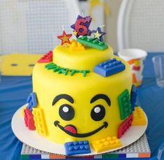 Creative Image of Lego Birthday Cake Lego Birthday Cake Lego Cake For Birthday Party Cakecentral 6th Birthday Cakes, Lego Birthday Party, 6th Birthday Parties, Birthday Cake Girls, Lego Parties, Birthday Ideas, Cake Lego, Lego Torte, Lego Movie Cake