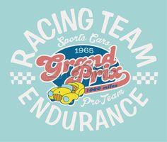 Endurance racing team Vector artwork for children wear Stock Vector