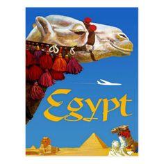 Egypt Camel Vintage Travel Tourism Postcard