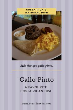 Gallo Pinto is mainly served as a hearty breakfast meal, but is also used as a side dish at lunch or dinner. Check out this post to find out the history of the Costa Rican favourite and how to make it! Latin American Culture, Latin American Food, Spanish Culture, American History, Spanish Food, Spanish 1, Gallo Pinto, Spanish Holidays, Costa Rica