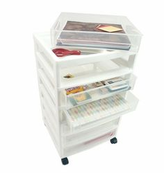 Portable scrapbook organization! Scrapbook Chest with 6 Removable Cases by Iris®