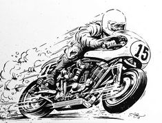 99 Seconds #illustration #design #motorcycles #motos   caferacerpasion.com