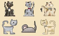 Country Cats Applique Pattern