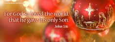 John 3:16 Christmas cover photo for Facebook profile