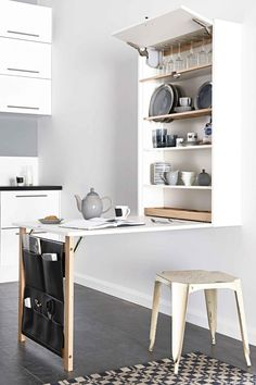 Space saving table/storage