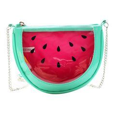 Trendy Handbags and Purses : Picture Description watermelon bag Trendy Handbags, Pink Handbags, Watermelon Jelly, Use E Abuse, Unique Bags, Chain Shoulder Bag, Shoulder Bags, Shoulder Strap, Edc Gadgets