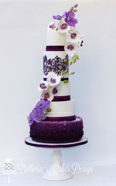 Purple ruffles with orchids