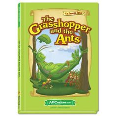 The Grasshopper and the Ants - Hardcover book from ABCmouse.com. 5 years & up, 32 pages. ∫ased on the classic Aesop's fable.  The ants work hard to gather food to prepare for winter, while the grasshopper only wants to play. But when winter comes, the grasshopper learns a lesson about planning for the future. This story is told in language that young readers can understand, with engaging, full-color illustrations to aid comprehension.