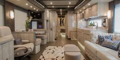 The interior of the 2018 Newell Coach - 11 luxury RVs that are nicer than your home