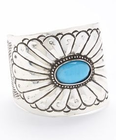 Look what I found on #zulily! ZAD Silver & Turquoise Cuff by ZAD #zulilyfinds
