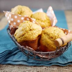 Spiced Pumpkin Muffins - Very good recipe...I used half whole wheat flour and half bread flour...used this recipe for pumpkin muffins ...then again for banana muffins!  Worked out great!