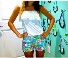 Perfect preppy summer outfit #lillypulitzer