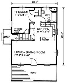 House Plan 45399 Level One