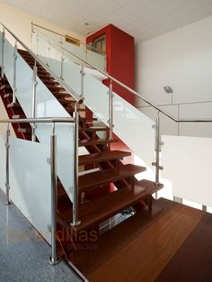 71 Inspirational Photography Of Glass Railings Indoor Stairs And Staircase, Steel Stairs, Stair Railing, Glass Stairs, Glass Railing, Indoor Railing, Stainless Steel Staircase, Glass Balustrade, Modern Stairs