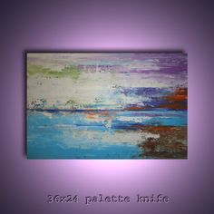 36x24 original modern palette knife abstract by Elsisygallery, $149.00