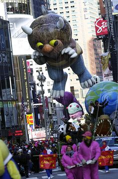 Maurice Sendak: The Wild Thing balloon during the 2002 Macy's Thanksgiving Day Parade