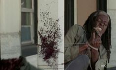 Michonne (Danai Gurira) kills zombies without using her hands in Episode 15 of AMCs The Walking Dead