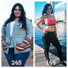 - Awesome Transformation by @cristinadown96 - I wasn't always heavy but slowly gained weight after high school over the years. Next thing you know, I'm weighing 245 lbs and my blood pressure was throu