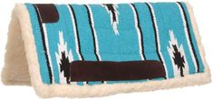 Teal winter western saddle pad