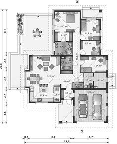 Projekt domu Aurelia Polo - murowana – ceramika 140,7 m2 - koszt budowy - EXTRADOM Dom, House Design, House, Architecture, Home Design, Home Design Plans, Design Homes