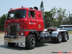 Image from the 2012 Brisbane Convoy for Kids of a Budweiser International Transtar Ford Trucks, Vintage Chevy Trucks, Antique Trucks, Classic Chevy Trucks, Big Rig Trucks, Diesel Trucks, Semi Trucks, Chevy Classic, Lifted Trucks