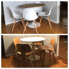 Oldu003eNew Or Technically Speaking New To Old Replaced My AllModern  Kitchen Table Set With Grandmau0027s Eames Chairs From The Today Used Office Furniture Seattle76