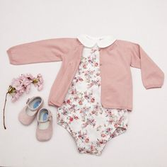 Baby Cotton Flower Print Romper - Mon Marcel don't normally pins baby clothing but this was too cute not to!! #BabyClothing