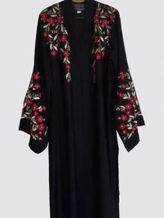 black abaya - Google Search Black Abaya, Royal Brides, Kimono Top, Google Search, Blouse, Long Sleeve, Sleeves, Tops, Women