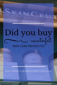 counterfeit skincare, SkinCeuticals, authorized retailer, fake skincare products, FBI warning, med spa, Fort Collins