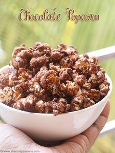 chocolate popcorn recipe easy to make.chocolate popcorn recipe perfect snack for kids,how to make chocolate popcorn recipe. Popcorn Mix, Sweet Popcorn, Candy Popcorn, Flavored Popcorn, Popcorn Recipes, Snack Recipes, Cooking Popcorn, Chocolate Covered Popcorn, Popcorn Seasoning