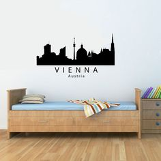 SlapArt Vienna Austria city skyline Wall Art by VinylMasterpieces, $15.99