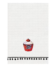 Jack-O-Lantern Cupcake Kitchen Towel - Set of Two