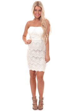 Lime Lush Boutique - Cream Lace Tube Dress, $39.99 (https://www.limelush.com/cream-lace-tube-dress/)