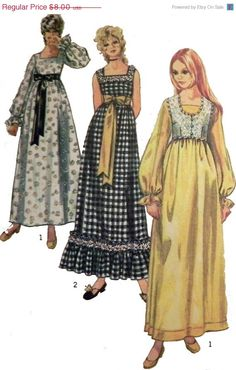 ON SALE 1970s Boho Sundress and Bolero sewing by retroactivefuture