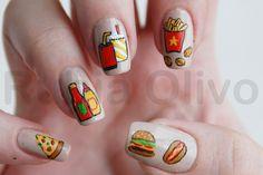 fast food nail art