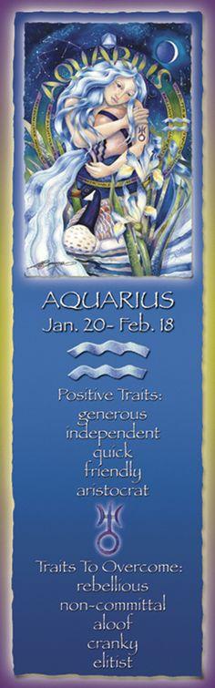 Bergsma Gallery Press::Products::Bookmarks::Zodiac::Zodiac Series / Aquarius - Bookmark