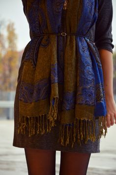 Outfit: the belted scarf | http://www.glasschuh.com/2014/11/outfit-the-belted-scarf/  #glasschuhloves