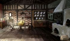House Interior from The Witcher 2: Assassins of Kings Concept art Fantasy concept art Interior art