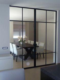Smeedijzeren binnendeur White Kitchen Interior, Partition Door, Door And Window Design, Home Design Decor, Home Decor, Contemporary Doors, Minimal Home, Interior Decorating, Interior Design
