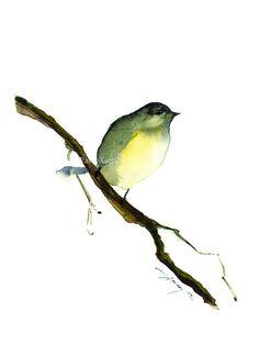 Watercolor painting watercolor bird painting bird art animal illustration bird PRINT Watercolor