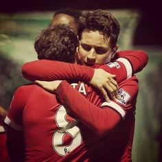"Nice hugs from @JuanMataGarcia after @AnderHerrera's goal. In Juan's blog today he talks about his love of the FA Cup: ""This was my first trophy in England and I'm very fond of it."" #mufc"