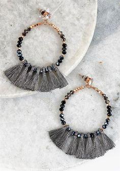 Plus Size Clothing | Beaded Mini Tassel Earrings | Debshops