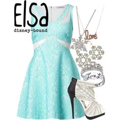 Elsa by disney-bound on Polyvore featuring OPTIONS, Miss Selfridge, Tità Bijoux, Bridge Jewelry and Aéropostale