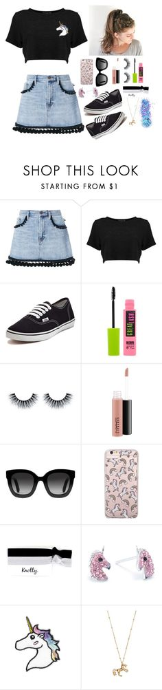 """""""Unicorn Power"""" by gussied-up ❤ liked on Polyvore featuring Marc Jacobs, Vans, Maybelline, MAC Cosmetics, Gucci, Forever 21, Belk Silverworks, LC Lauren Conrad and In Your Dreams"""