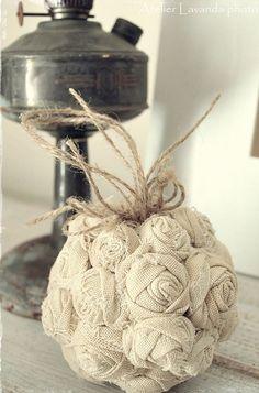 Flores de arpillera ramo de novia