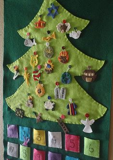 Pattern and Tutorial DIY Jesse Tree with Ornaments by NavyMango