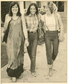 Molly, Linda and Yvonne Gibb (wives of the Bees Gees)