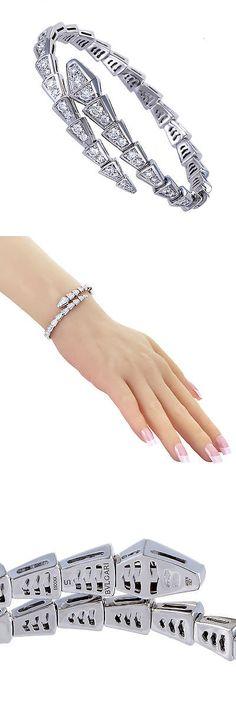 Diamond 2 Ct Diamond Bracelet 14K White Gold Ss 925 7 5