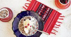 Joghurtos hajdinakása almával recept   Pödör #hajdinakása #kása #uzsonna #reggeli #hajdina #alma #mandulatej #méz #joghurt #cukor #lisztmentes #tejmentes #tojásmentes