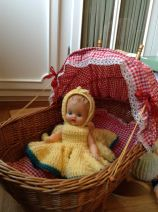 Beautiful antique German doll with handmade knitted outfit! #Mylittlerescuedangels
